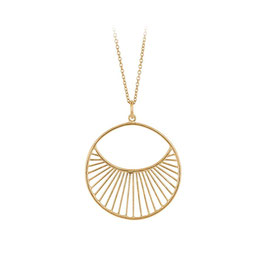 Pernille Corydon Halskette mit Anhänger Daylight Gold