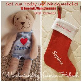 Nikolausset mit Personalisierter Schrift Beispiel mit Namen Opa Oma Tante Spitzname .....