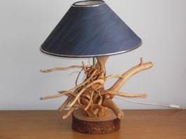 lamp met blauwe kap