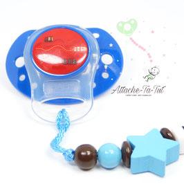 Supplément Adaptateur silicone pour sucette sans anneau, type Mam -NON VENDU SEUL
