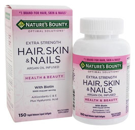 Biotina de 5000 mcg -  Nature's Bounty Hair Skin Nails - 120 cap.
