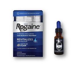 Minoxidil Rogaine (Espuma) + Aceite estimulante - 30ml