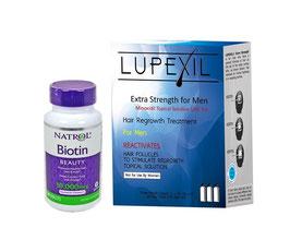 Kit: Lupexil 5% y Biotina Natrol de 10,000 mcg- 3 meses de uso