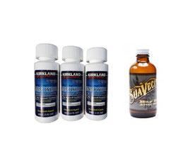 Kit: Minoxidil + Aceite suavecito.