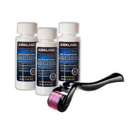 Kit: Minoxidil + Derma Roller