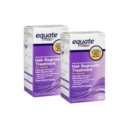 Minoxidil Equate 2% para Mujer 6 meses de uso