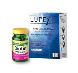 Kit: Lupexil 5% y Biotina de 1,000 mcg - Spring Valley