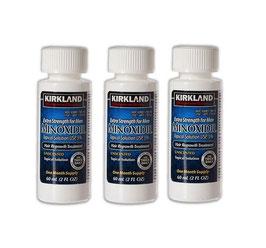 Minoxidil Kirkland 5% en liquido - 3 meses de uso.
