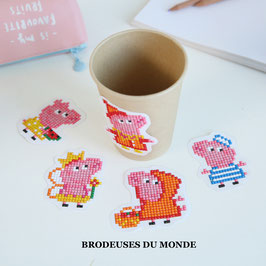 5 STICKERS PEPPA PIG