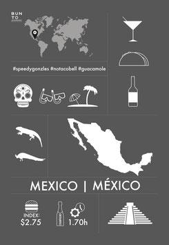 BUNTO LÄNDERPOSTKARTE - MEXICO
