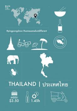 BUNTO LÄNDERPOSTKARTE - THAILAND