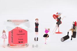 """Bougie parfumée """"Bella, Capricieuse, Cute, Funny, Bad Ass"""" (boucles d'oreilles) - JewelCandle"""