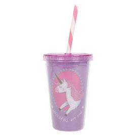 "Verre (drinking cup) licorne ""Unicorns Are Real"""
