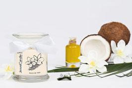 "Bougie parfumée ""Monoï De Tahiti"" (boucles d'oreilles) - JewelCandle"
