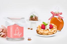 """Bougie parfumée """"Amaretto Waffle"""" (boucles d'oreilles) - JewelCandle"""