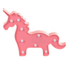 Lampe décorative ou veilleuse licorne rose