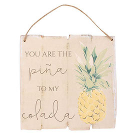 """Décoration murale ananas """"You Are The Pina To My Colada"""""""