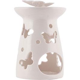 Brûleur papillon blanc en céramique