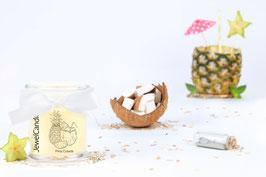 """Bougie parfumée """"Pina Colada"""" (boucles d'oreilles) - JewelCandle"""