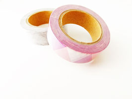 Masking tape motif triangles rose 1.5cm sur 10m