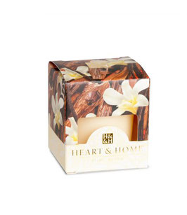"""Bougie parfumée """"Bois De Santal Et Vanille"""" 53g - Heart & Home"""