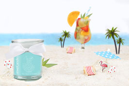 "Bougie parfumée ""Sun, Beach & Cocktail"" (boucles d'oreilles) - JewelCandle"