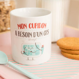 "Mug ""Mon cupidon a besoin d'un GPS"" - Mr. Wonderful"