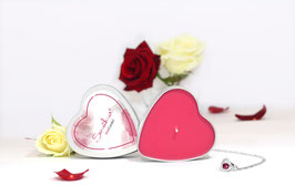 "Bougie parfumée ""Sweetheart"" (boucles d'oreilles) - JewelCandle"