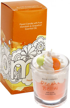 "Bougie crème fouettée ""Peach Bellini"" - Bomb Cosmetics"