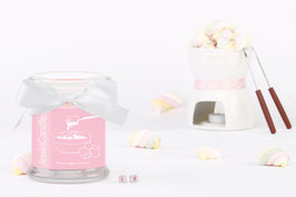 "Bougie parfumée ""Marshmallow Fondue"" (boucles d'oreilles) - JewelCandle"