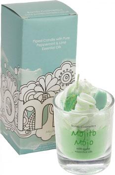 "Bougie crème chantilly ""Mojito Mojo"" - Bomb Cosmetics"