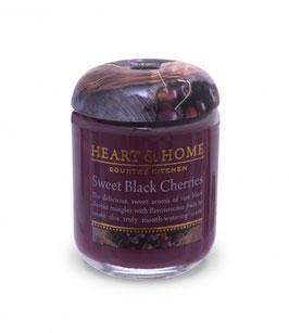 """Bougie parfumée """"Cerise Noire Gourmande"""" 115g - Heart & Home"""