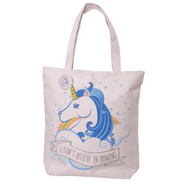 "Sac tote bag licorne ""I Don't Believe In Humans"""