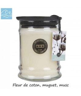 "Bougie parfumée ""White Cotton"" 250g - Bridgewater"