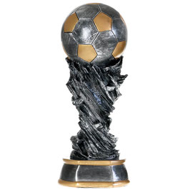 Pokal - Fußball Trophäe 45 cm Fußball Pokal Weltpokal Wanderpokal inkl. Gravur
