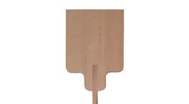 Holz-Schüssel eckig / Pizzaschaufel Holz eckig