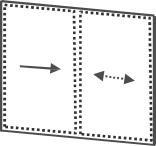 Glas Schiebe Anlage 2-gleisig 10 mm ESG