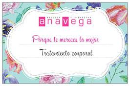 Ana Vega | bono regalo Tratamiento corporal