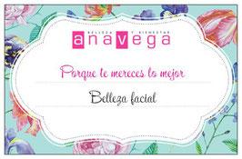 Ana Vega | bono regalo Belleza facial
