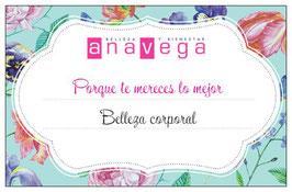 Ana Vega | bono regalo Belleza corporal
