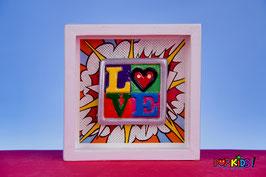 LOVE 3D cuadro pop art Nasel