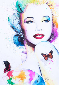 """Lámina """"Marilyn & Butterflies"""""""