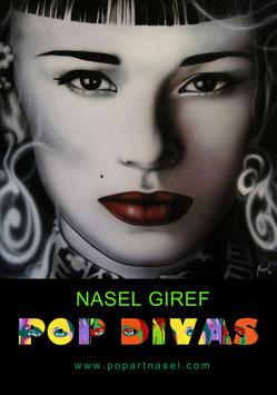 Adriana Gil Pop art , by Nasel