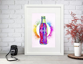 "Lámina ""Raimbow Coca Cola"" by Nasel"