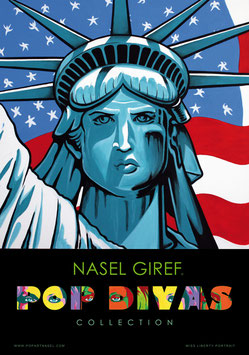 Miss Liberty Pop art , by Nasel