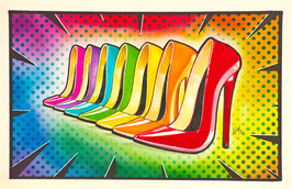 Pop Rainbow High Heels
