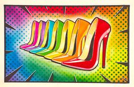 "Lámina "" Raimbow High Heels "" by Nasel"