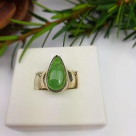 Chrysopras Ring Gr. 52