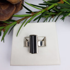 Turmalin Ring Schwarz Gr. 56