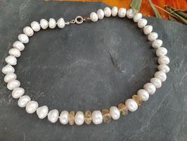 Perlenkette mit Citrin